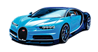 Bugatti Chiron car list.