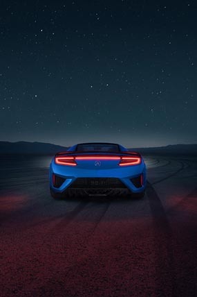 2019 Acura NSX phone wallpaper thumbnail.