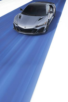 2022 Acura NSX Type S phone wallpaper thumbnail.