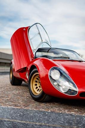 1967 Alfa Romeo Tipo 33 Stradale Prototipo phone wallpaper thumbnail.
