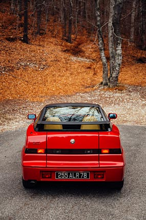 1989 Alfa Romeo SZ phone wallpaper thumbnail.