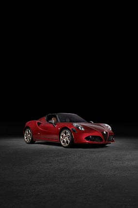 2020 Alfa Romeo 4C Spider 33 Stradale Tributo phone wallpaper thumbnail.