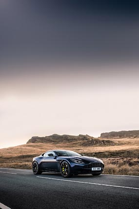 2019 Aston Martin DB11 AMR phone wallpaper thumbnail.