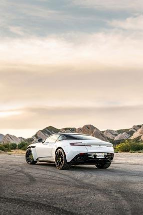 2019 Aston Martin DB11 AMR phone wallpaper thumbnail.