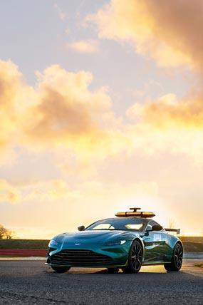 2021 Aston Martin Vantage F1 Safety Care phone wallpaper thumbnail.
