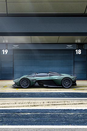 2022 Aston Martin Valkyrie Spider phone wallpaper thumbnail.