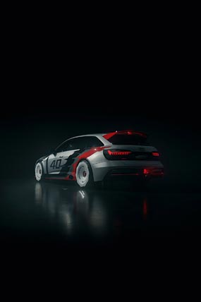 2020 Audi RS6 GTO Concept phone wallpaper thumbnail.