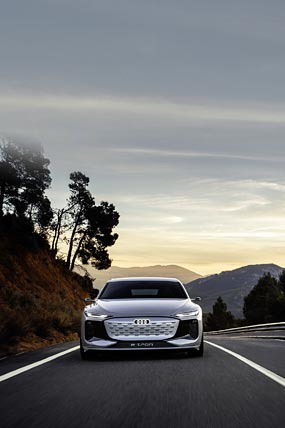 2021 Audi A6 E-Tron Concept phone wallpaper thumbnail.