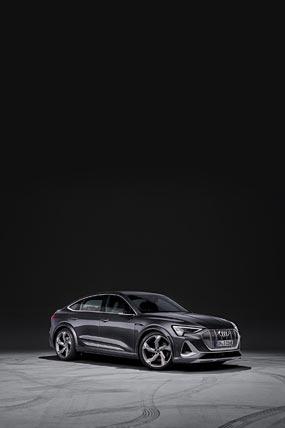2021 Audi E-Tron S Sportback phone wallpaper thumbnail.