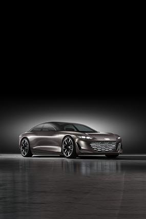 2021 Audi Grandsphere Concept phone wallpaper thumbnail.