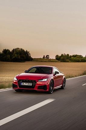 2021 Audi TTS Competition Plus phone wallpaper thumbnail.