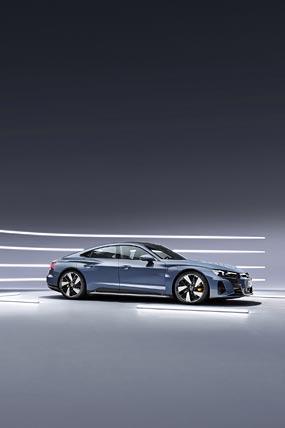 2022 Audi E-Tron GT Quattro phone wallpaper thumbnail.
