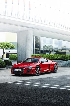 2022 Audi R8 V10 Performance RWD phone wallpaper thumbnail.