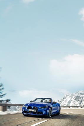 2022 BMW M4 Competition Convertible phone wallpaper thumbnail.