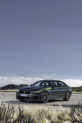 2022 BMW M5 CS phone wallpaper thumbnail.