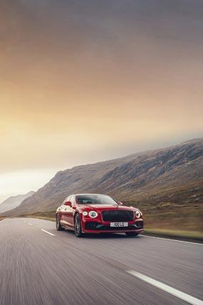 2021 Bentley Flying Spur V8 phone wallpaper thumbnail.