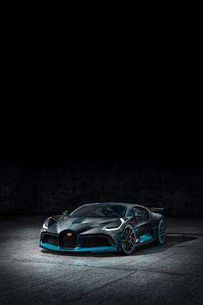 2019 Bugatti Divo phone wallpaper thumbnail.