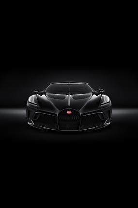 2019 Bugatti La Voiture Noire phone wallpaper thumbnail.