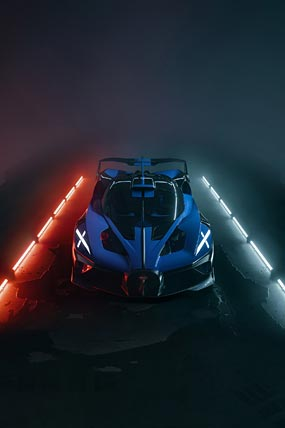 2020 Bugatti Bolide Concept phone wallpaper thumbnail.