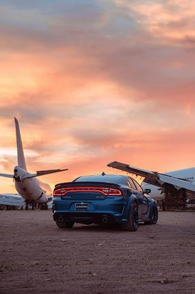 2020 Dodge Charger SRT Hellcat Widebody phone wallpaper thumbnail.