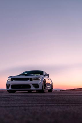2020 Dodge Charger Scat Pack Widebody phone wallpaper thumbnail.