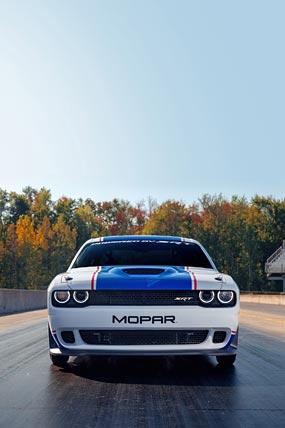 2021 Dodge Challenger Mopar Drag Pak phone wallpaper thumbnail.