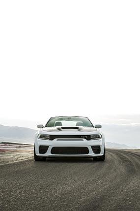 2021 Dodge Charger SRT Hellcat Redeye phone wallpaper thumbnail.