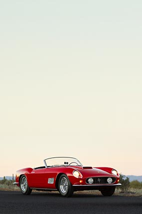 1963 Ferrari 250 GT California Spyder phone wallpaper thumbnail.