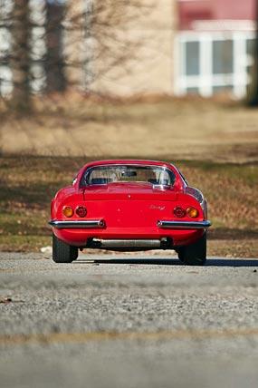 1966 Ferrari Dino 206 GT phone wallpaper thumbnail.