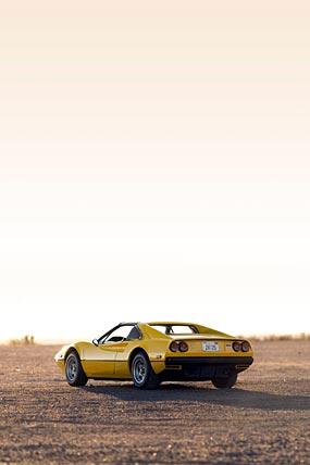 1977 Ferrari 308 GTS phone wallpaper thumbnail.