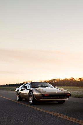 1982 Ferrari 308 GTS phone wallpaper thumbnail.