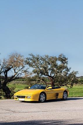 1993 Ferrari 348 Spider phone wallpaper thumbnail.