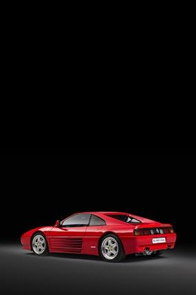 1994 Ferrari 348 GT Competizione phone wallpaper thumbnail.