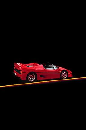 1995 Ferrari F50 phone wallpaper thumbnail.