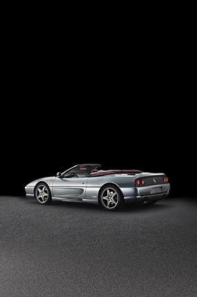 1999 Ferrari F355 Spider Serie Fiorano phone wallpaper thumbnail.