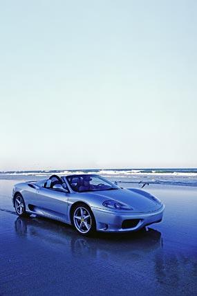 2001 Ferrari 360 Spider phone wallpaper thumbnail.