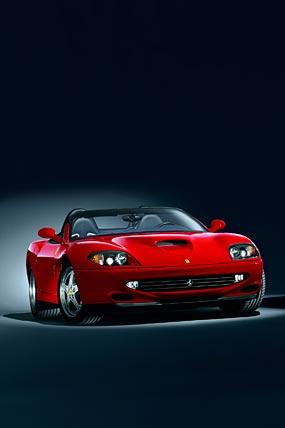2001 Ferrari 550 Barchetta phone wallpaper thumbnail.