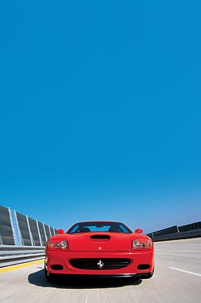 2002 Ferrari 575M Maranello phone wallpaper thumbnail.