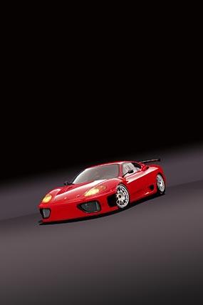 2003 Ferrari 360 GT phone wallpaper thumbnail.