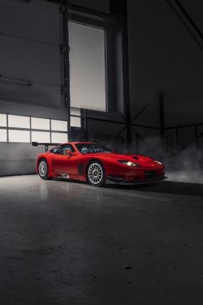 2003 Ferrari 575 GTC Stradale phone wallpaper thumbnail.