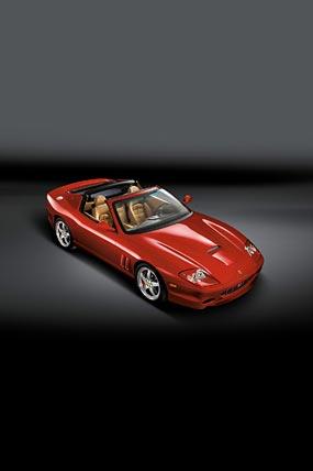 2005 Ferrari 575M Superamerica phone wallpaper thumbnail.