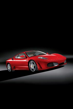 2005 Ferrari F430 phone wallpaper thumbnail.
