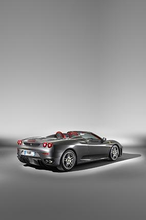 2005 Ferrari F430 Spider phone wallpaper thumbnail.