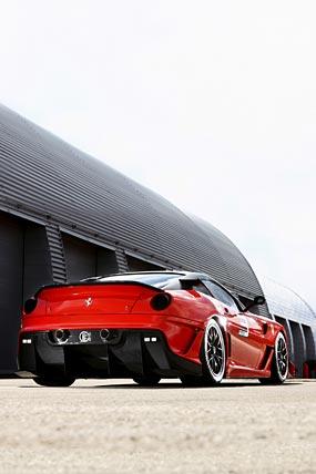 2009 Ferrari 599XX phone wallpaper thumbnail.
