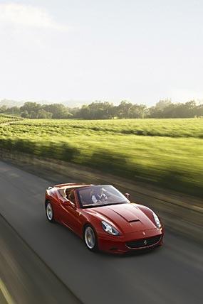 2009 Ferrari California phone wallpaper thumbnail.