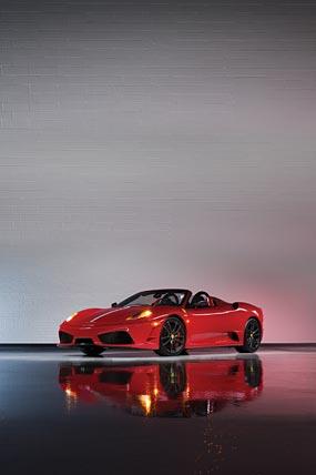 2009 Ferrari 430 Scuderia Spider 16M phone wallpaper thumbnail.