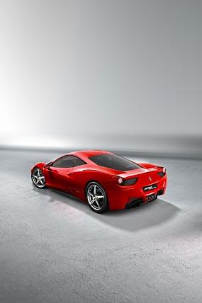 2010 Ferrari 458 Italia phone wallpaper thumbnail.