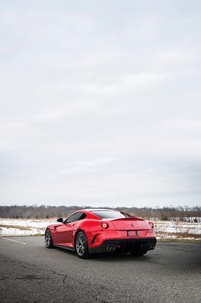 2010 Ferrari 599 GTO phone wallpaper thumbnail.