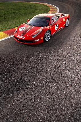 2011 Ferrari 458 Challenge phone wallpaper thumbnail.