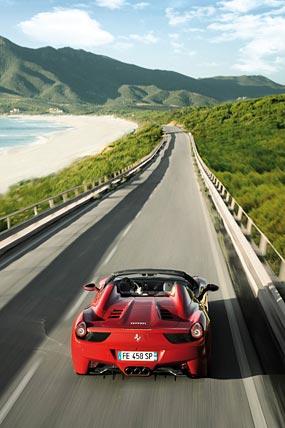 2013 Ferrari 458 Spider phone wallpaper thumbnail.